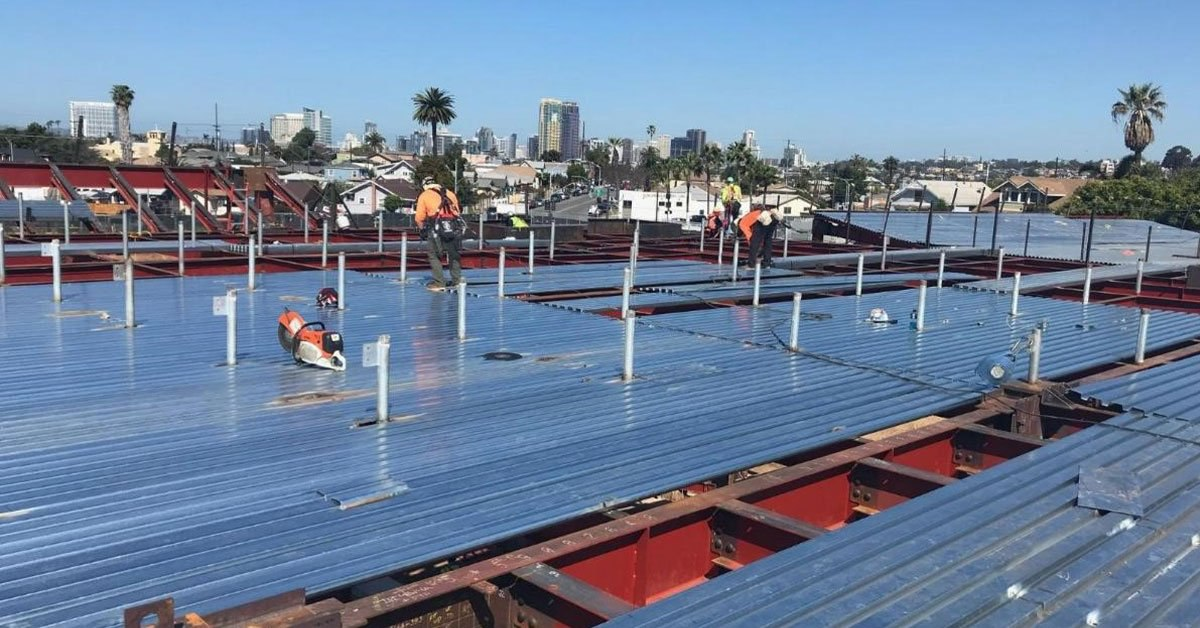 How to Spread and Fasten a Metal Roof Deck